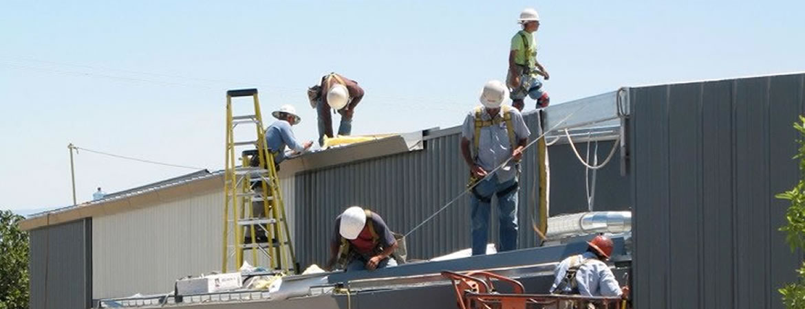 Construction workers at UC Merced