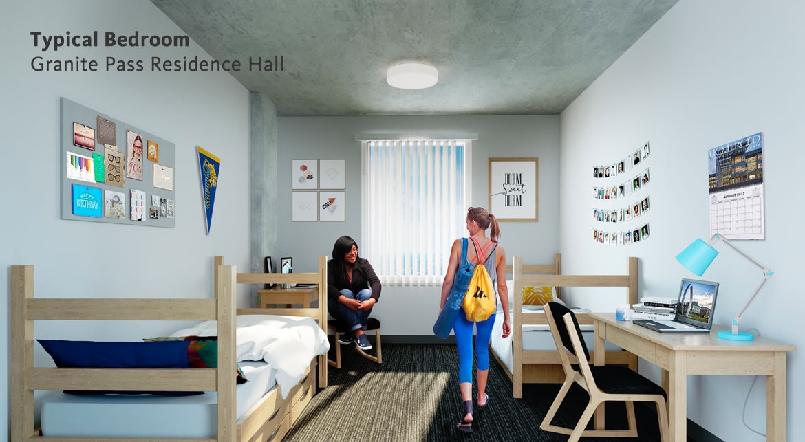 Housing 1a 3b Granite Pass Residence Hall Merced 2020
