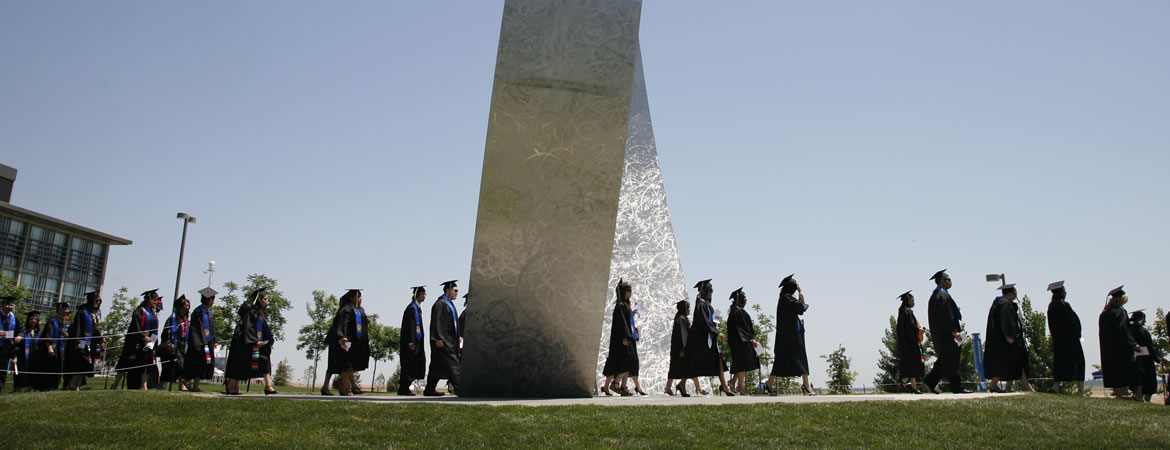 UC Merced student's passing through Beginnings as they graduate